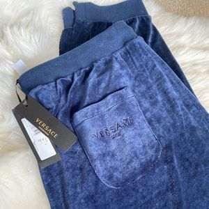 Versace velour gym pants